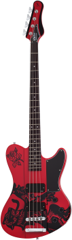 SCHECTER Bassgitarre, Signature Simon Gallup Ultra Bass, Gloss Red