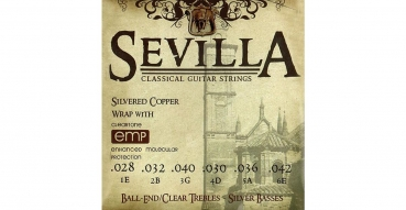 SEVILLA TREATED CLASSICAL STRINGS MED. TENSION / BALL ENDS